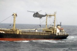 SO SAN while boarded by Spanish Marines in 2003