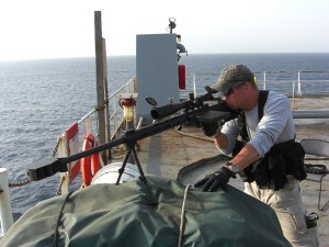 PMSCs have helped curb piracy off Somalia, but they are not allowed in the Gulf of Guinea