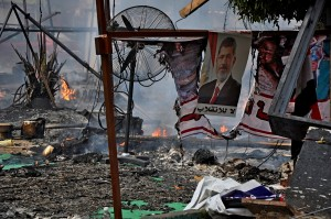 A protest camp cleared, but the battle for Egypt rages on