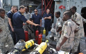 EU personnel train with the Djiboutian Coast Guard, but who does one work with in Somalia?