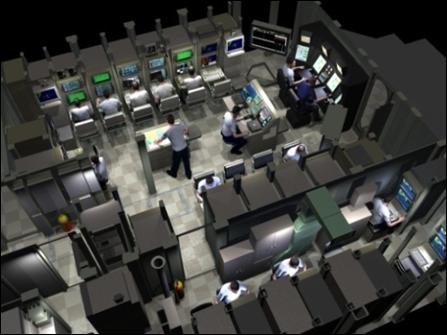 Virginia-class layout in CAFÉ laboratory, NUWC Newport