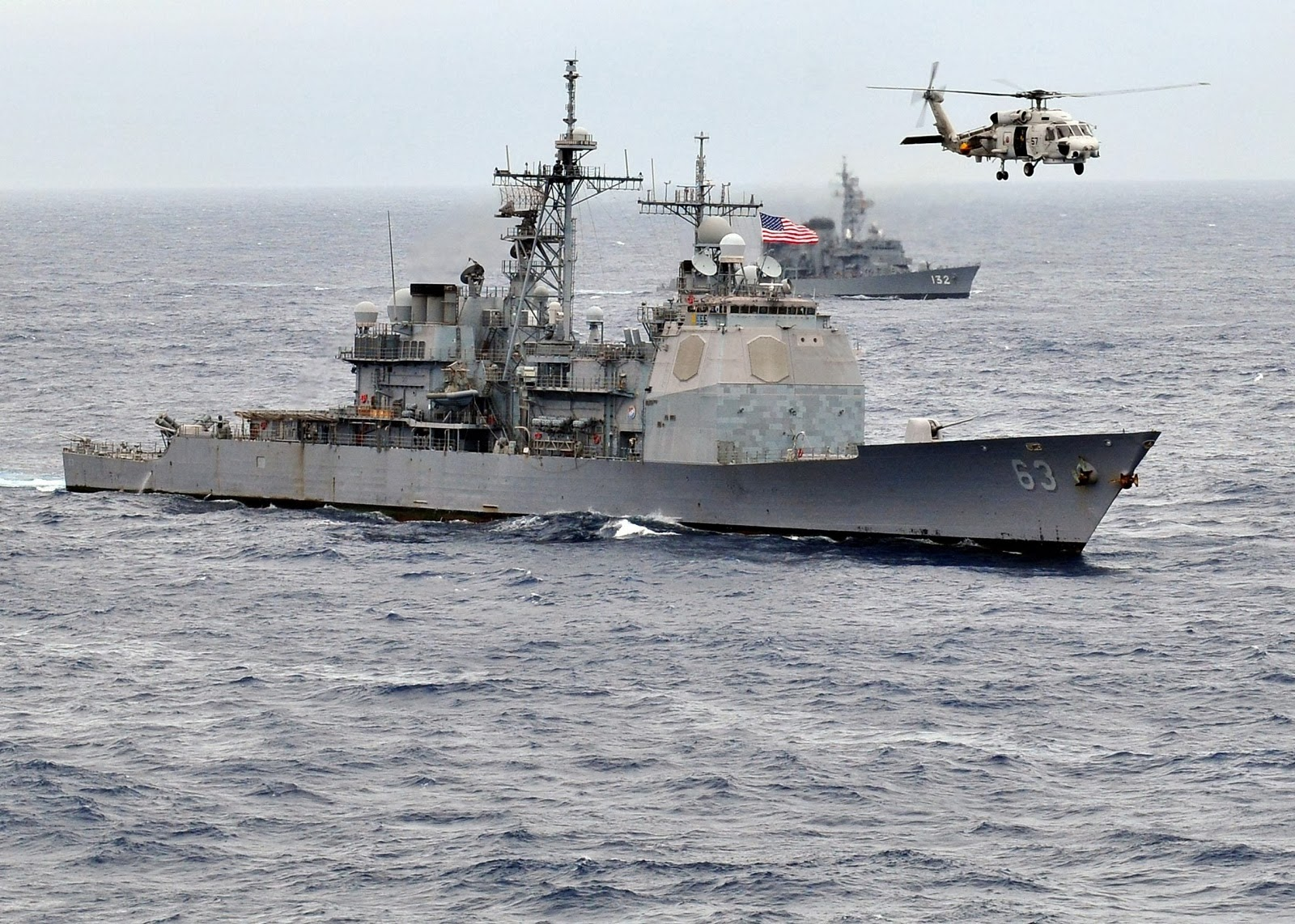 """Uss Cowpens Collision The """"Mighty Moo&q..."""