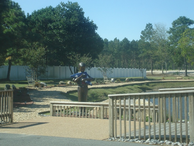 Memorial park at Blackwater's headquarters (photo by author)