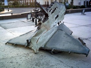 Wreckage of a Destroyed Israeli Plane (Wikimedia Commons)