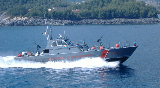 The Albanian Navy in Action