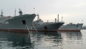Russian naval vessels in Sevastopol, Ukraine.