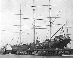 CSS Shenandoah drydocked