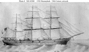 Looking for whalers - CSS Shenandoah under sail