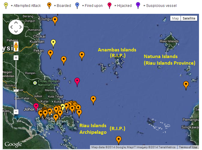 Attacks and Attempts in 2013. Source: IMB.