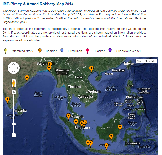 Attacks and Attempts in 2014 to April. Source: IMB.