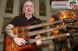 Gen. Mattis says we should have a 2000 year old brain... so we can shred triple-neck guitars.