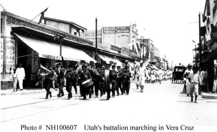 Sailors Parading through Veracruz (Naval Historical and Heritage Command)