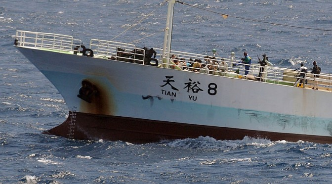 Pirates hijacking the Chinese fishing vessel FV Tianyu 8 in the Indian Ocean (2008)