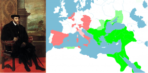 Picture - Charles V and Map of Holdings
