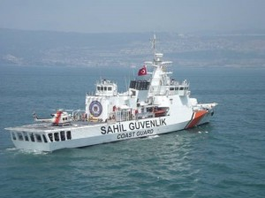 Turkish Coast Guard Offshore Patrol Vessel SG-701 Dost (image courtesy Turkish Coast Guard Command)