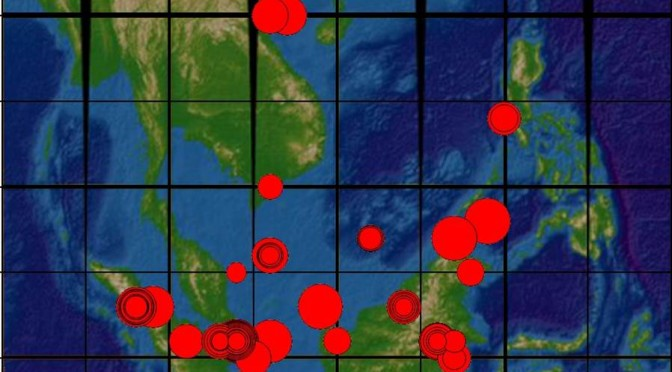 Figure 3: The location and severity of piracy incidents in the South China Sea.
