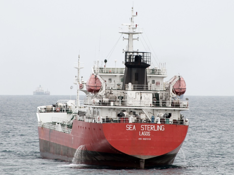 [Photo: The SEA STERLING on Lagos roads in April 2014. (Dirk Steffen)]