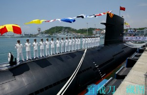 PLAN Song-class submarine in Hong Kong