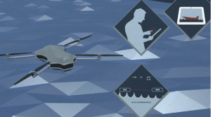 Depiction of ATAC Anti-piracy UAV.