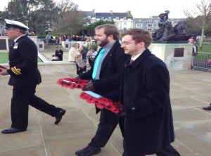 UK Chapter meet-up 09-11-14 Wreath laying