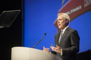 Secretary Ray Mabus discusses the new Innovation Qualification Pin in Akron, Ohio.
