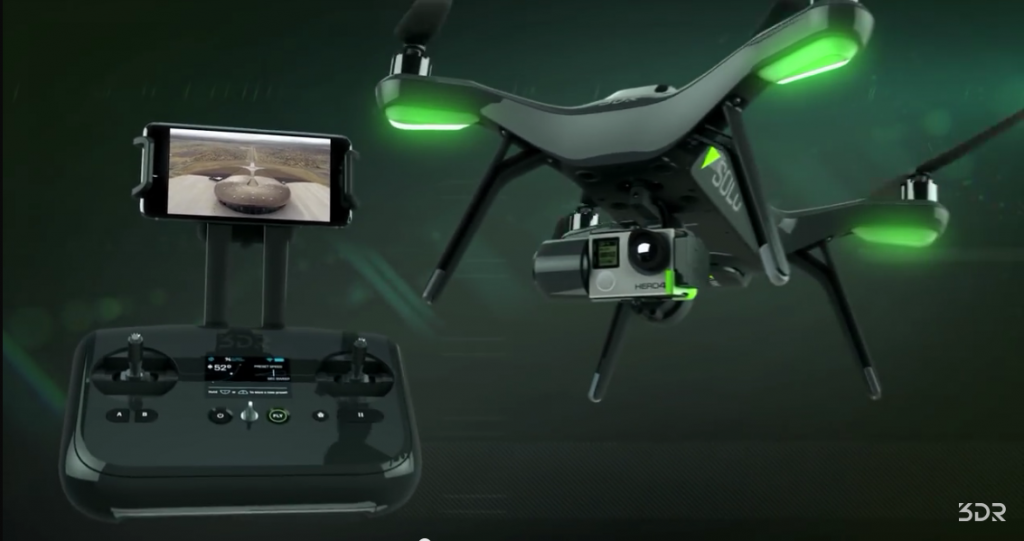 The upcoming 3DR Solo UAS will feature autonomous flight and camera control with real time video streaming for $1,000 (3drobotics.com)