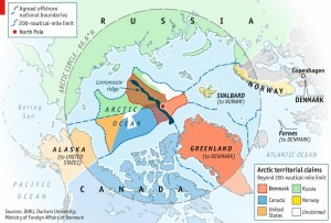 Map of Arctic territorial claims (2015)