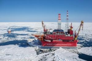 Gazprom's pioneering Arctic drilling platform Prirazlomnaya