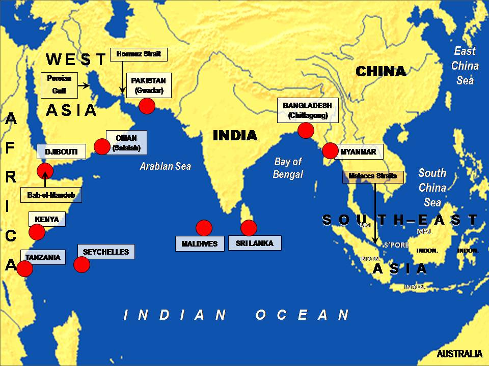 China's Sting of Pearls in Indian Ocean