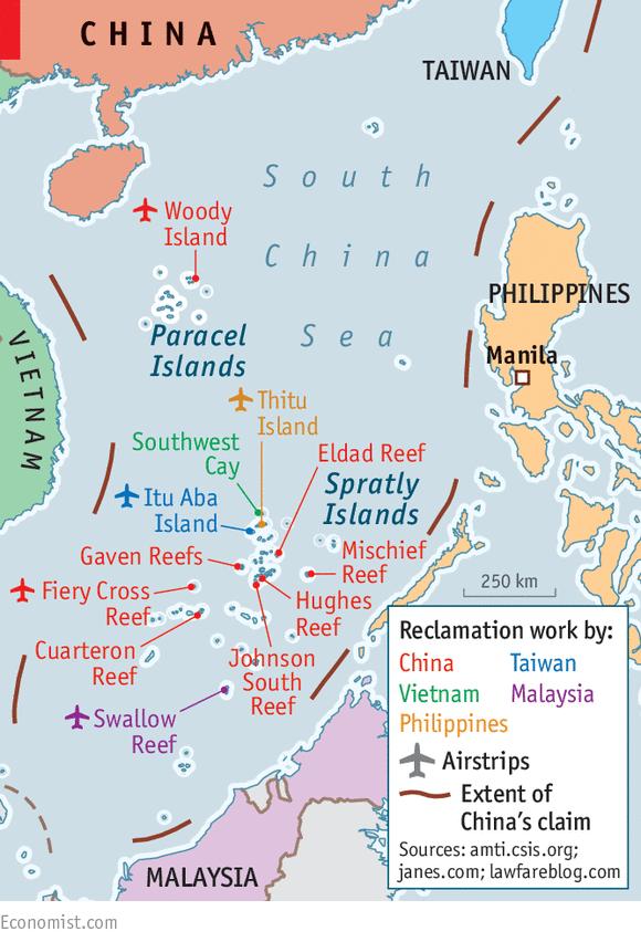 SouthChinaSeaReclamationEconomistpng - Anti Fascismos Map Us