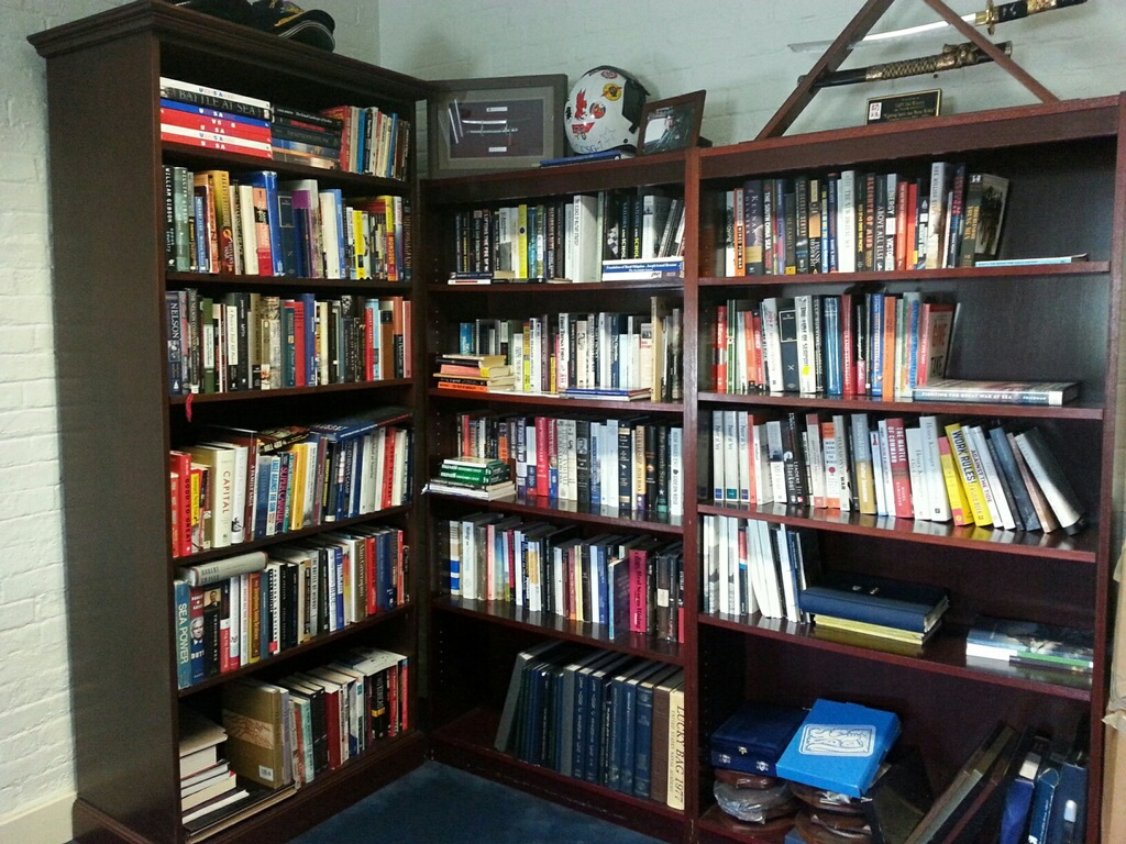 The Admiral's at work library.