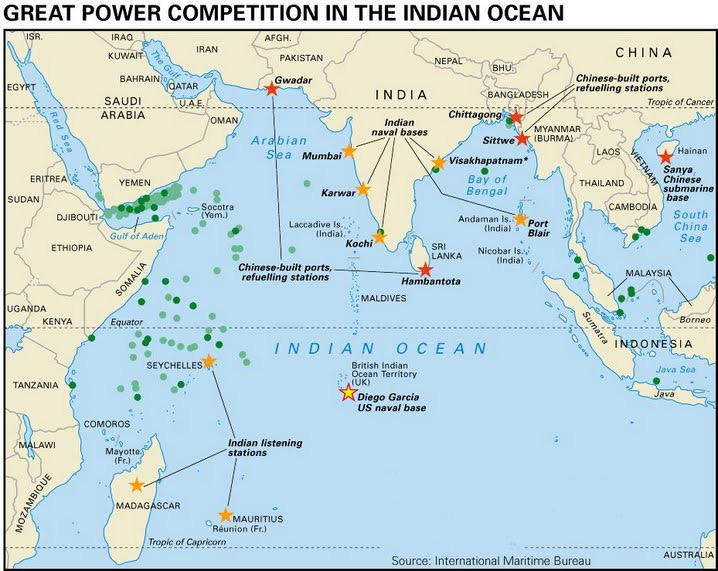 Becoming A Maritime Power The First Chinese Base In The Indian - Map of us naval bases around the world