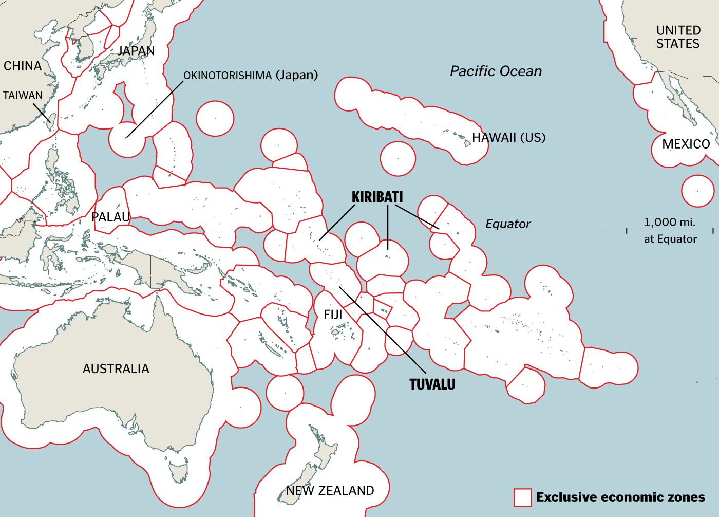 EEZs - Us eez map