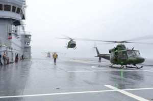 Flight Ops aboard Mistral during LION MISTRAL 2014.