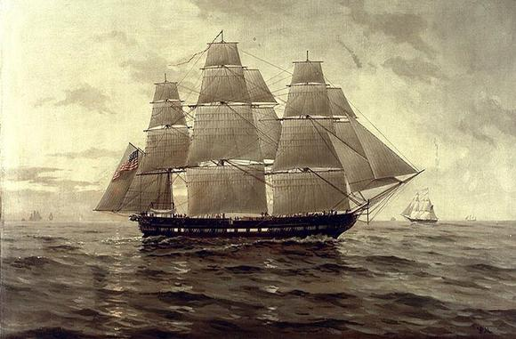 The U.S.S. Chesapeake, one of the U.S. Navy's original six frigates.