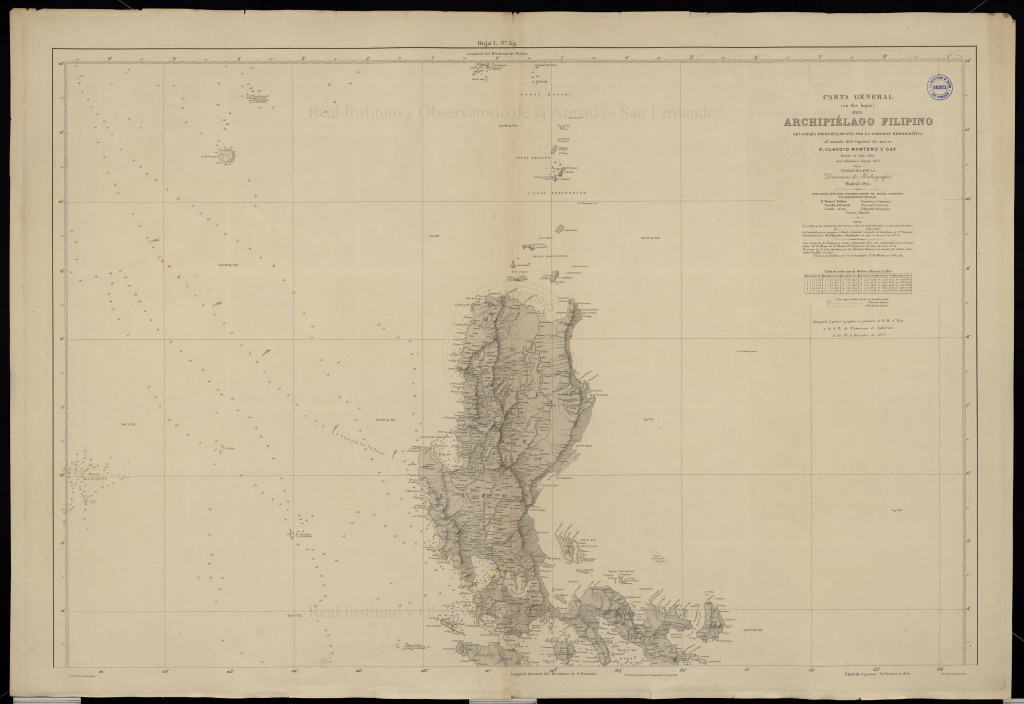 Spanish colonial era map of the Philippines, including Bajo de Masinloc / Scarborough Shoal. Kindly provided by Dr David Manzano Cosano, Escuela de Estudios Hispano-Americanos (CSIC; Spanish National Research Council)
