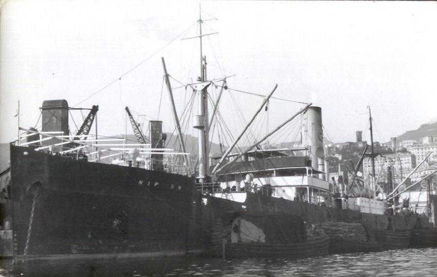 The SS Nippon, owned by the Swedish East Asiatic Co., which shipwreck on Scarborough Shoal in 1913 led to a civil case that ended up before the Supreme Court of the Philippines
