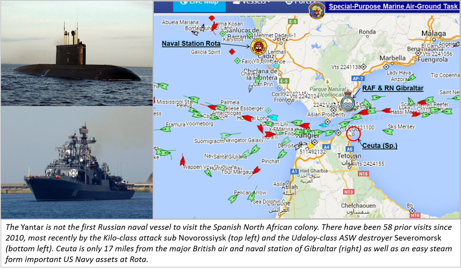 From Russia With LoveTo Ceuta - Us navy fleet locations map
