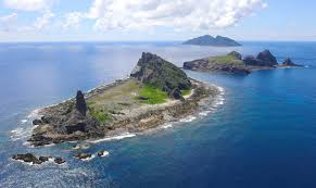 Aerial view of the Senkaku Islands