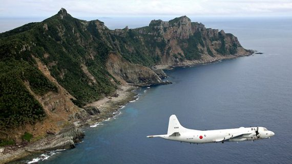 Japanese air patrol over the Senkaku Islands