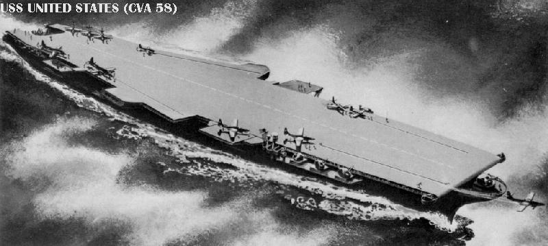 A drawing of CVA 58 the proposed USS United States which was later cancelled.