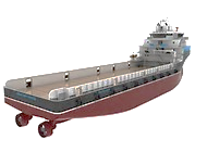 Figure 33. PSVs can carry Air Cushioned Vehicles to theater on this wide open deck.