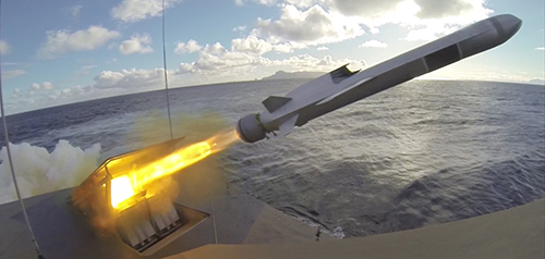 Norweigan Strike Missile (NSM) launch.