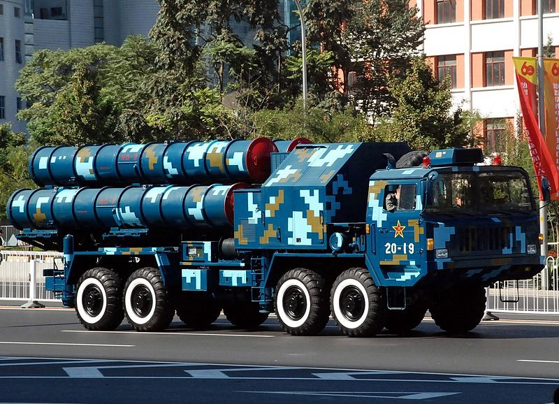 Chinese HQ-9 TEL on parade.