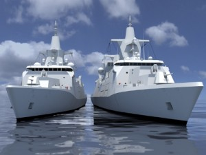 The German Navy's next project: Multi-role combat ships MKS180 (artist conception).