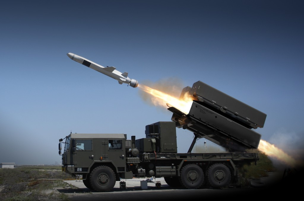 Norweigan Strike Missile (NSM) launched from a truck, Kongsberg photo.