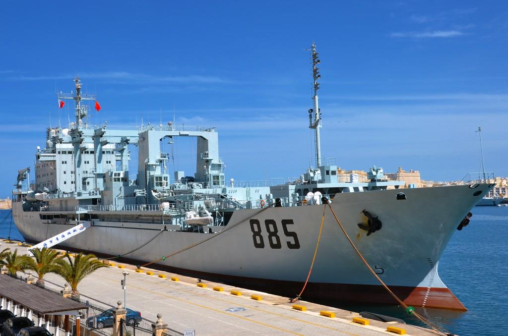 PLA Navy Qinghaihu-class logistics vessel.