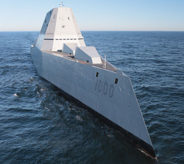 "U.S. Navy - The future USS Zumwalt (DDG-1000) conducts sea trials in December. Such a revolutionary vessel reflects both the aspirations and the daunting challenges of tomorrow's fleet, for such ""alternative ship designs and fleet architecture take a long time to implement,"" notes the author, pointing out that the DDG-1000 ""has been in development, design, and construction for 20 years. . . ."""
