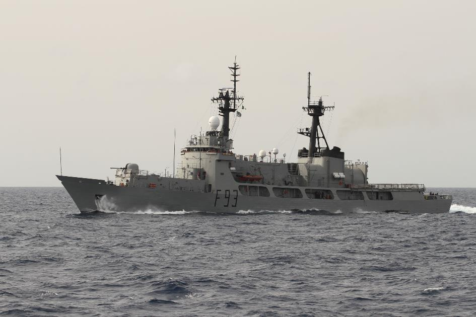 The Nigerian Navy offshore patrol vessel NNS OKPABANA during Exercise OBANGAME EXPRESS 2015. Photo: German Navy/Steve Back.