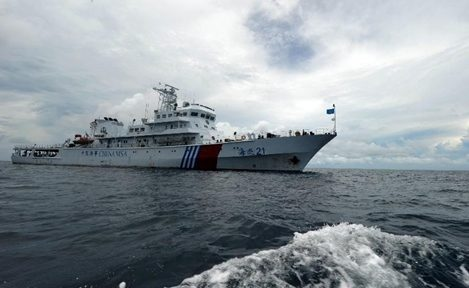 Chinese maritime policing vessel.